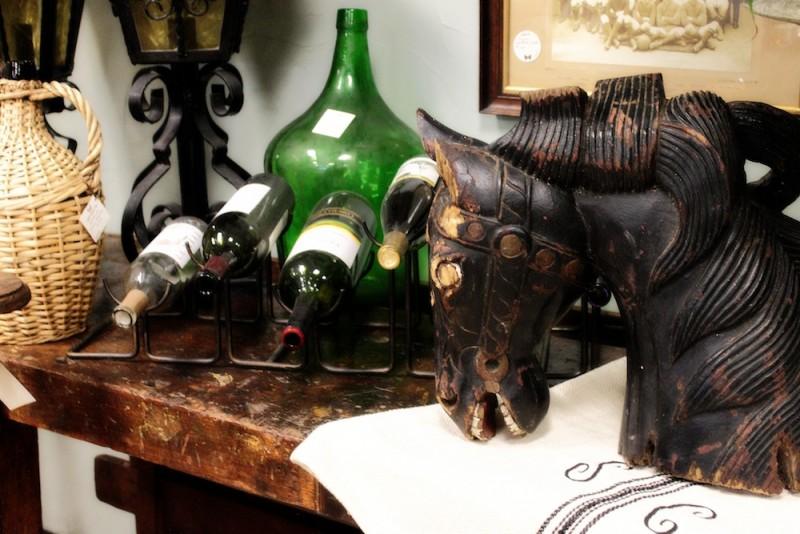 Horse & Wine Bottles